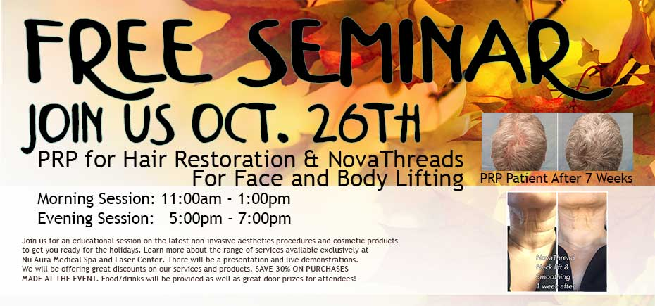 Free Seminar - PRP for Hair Restoration and NovaThreads