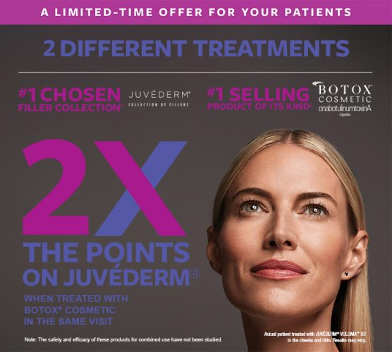 2x Juvederm points